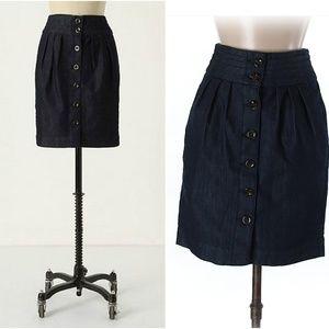 Anthropologie A Quiet Approach Denim Skirt